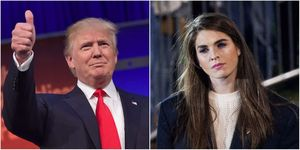 Donald Trump and Hope Hicks | ELLE UK