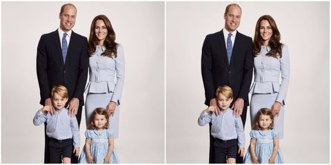 kate middleton and prince william release the most adorable family christmas card - Family Photo Christmas Cards