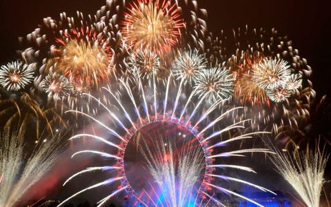New Year's Eve Fireworks, London, Marriott County Hall hotel