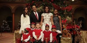 The Obama Christmas Family Picture | ELLE UK