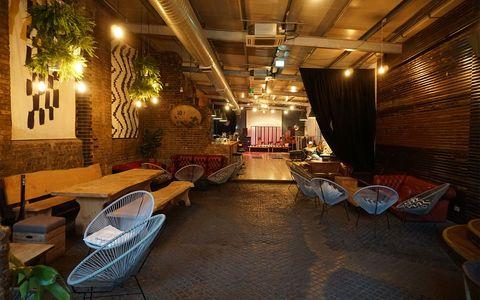 Lighting, Interior design, Furniture, Ceiling, Floor, Light fixture, Couch, Interior design, Hall, Electricity,