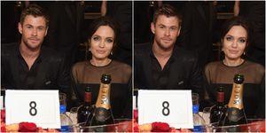 Chris Hemsworth, Angelina Jolie, Golden Globes 2018