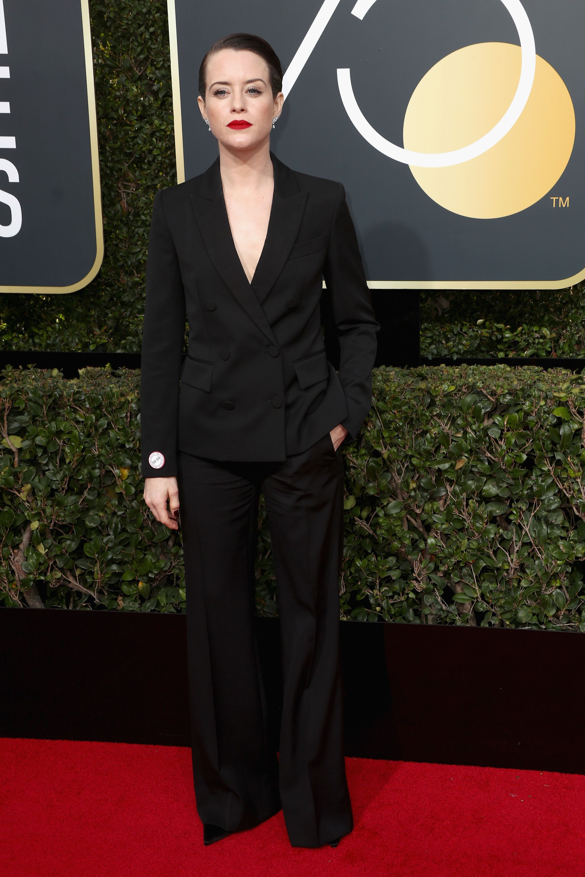 Claire Foy wore Stella McCartney to the golden globes