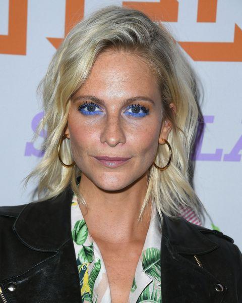 Poppy Delevingne Blue eyeshadow