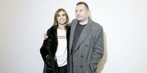 Stylist of Louis Vuitton Men, Kim Jones and Carine Roitfeld pose Backstage prior the Louis Vuitton Menswear Fall/Winter 2017-2018 show as part of Paris Fashion Week on January 19, 2017 in Paris, France | ELLE UK