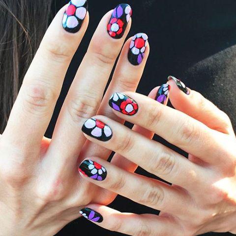 Blue, Finger, Skin, Nail, Nail care, Nail polish, Red, Manicure, Pink, Toe,