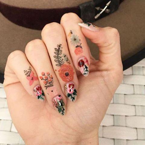 Finger, Skin, Nail, Nail care, Nail polish, Pink, Style, Manicure, Cosmetics, Artificial nails,