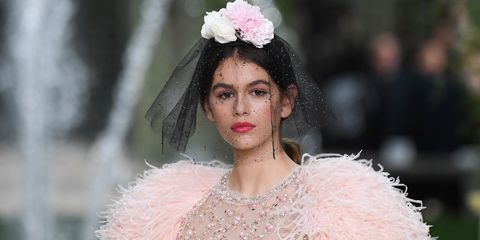 fe5cd584534e Kaia Gerber Makes Couture Debut At Chanel In Powder Pink