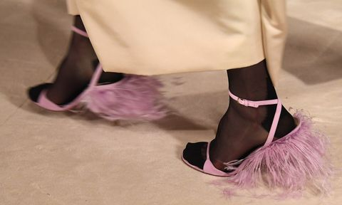 Purple, Pink, Magenta, Fashion, Violet, Lavender, Costume accessory, Ankle, Foot, Natural material,