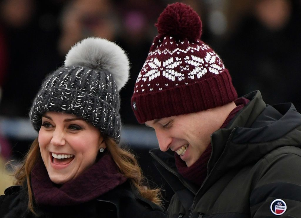 e695d550901 Kate Middleton And Prince William Wrap Up For The First Day Of Their ...