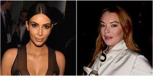 Kim Kardashian West and Lindsay lohan