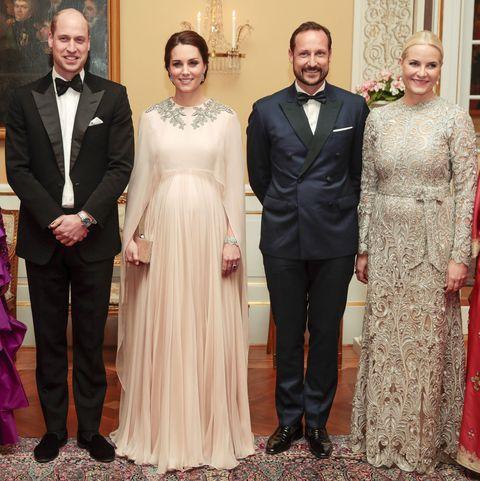 Kate Middleton Dazzles In Blush Pink Alexander McQueen Dress