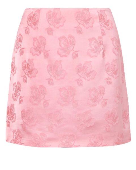 pink, alexa chung, mini skirt