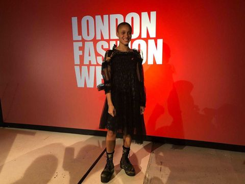 Adwoah Aboah at London Fashion Week AW18