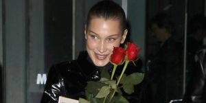 Bella Hadid With Red Roses