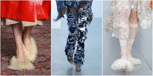 Shaggy shoes are trending at London Fashion Week | ELLE UK