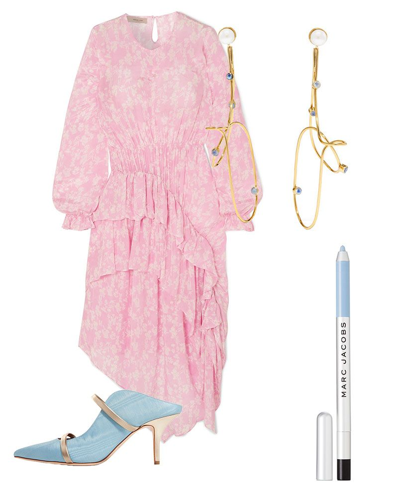preen line pink floral dress - wedding guest outfit