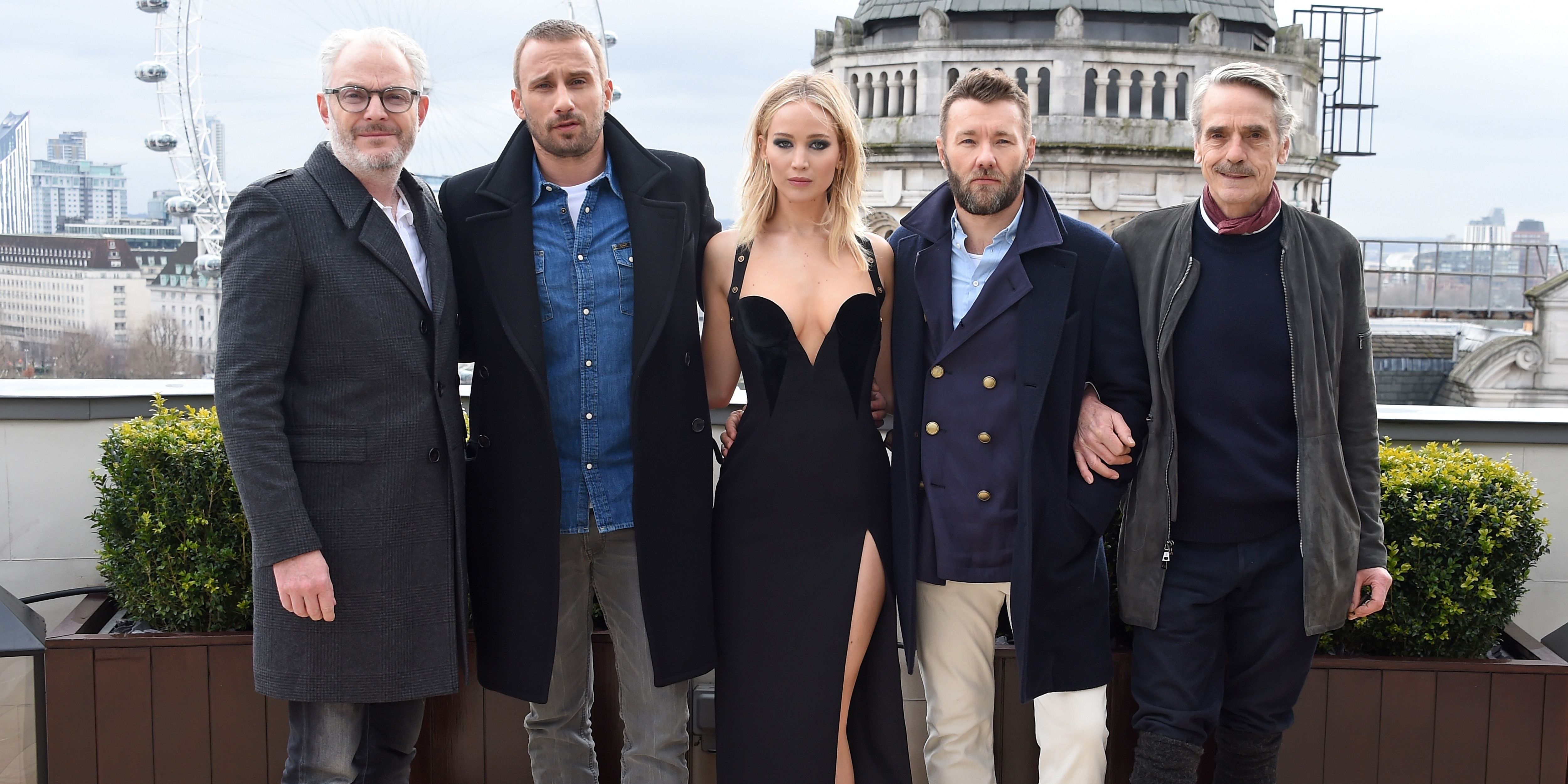 Jennifer Lawrence's Latest 'Red Sparrow' Photocall Has Twitter Calling Out  Gender Inequality