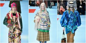 Models Walk The Runway At Gucci | ELLE UK