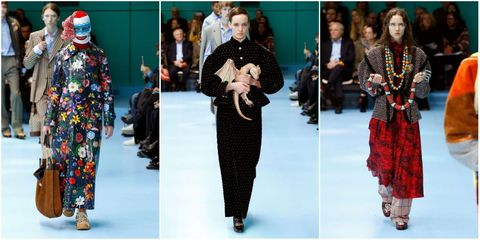 9f8c0421c3f Models present a creation by Gucci during the women s Fall Winter 2018 2019  collection