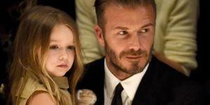 David and Harper Beckham   ELLE UK
