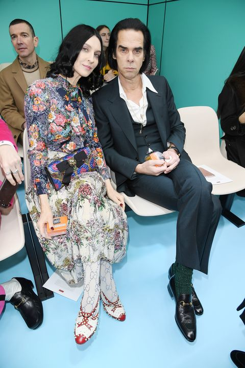 Susie and Nick Cave Gucci Front Row