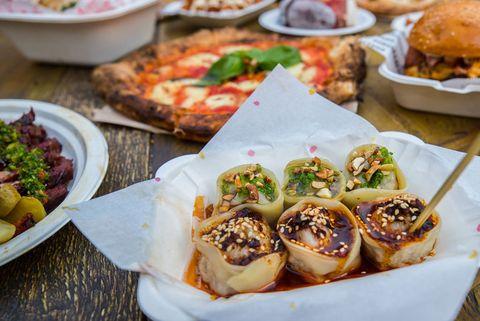 Public, Street Feast food market  Woolwich London