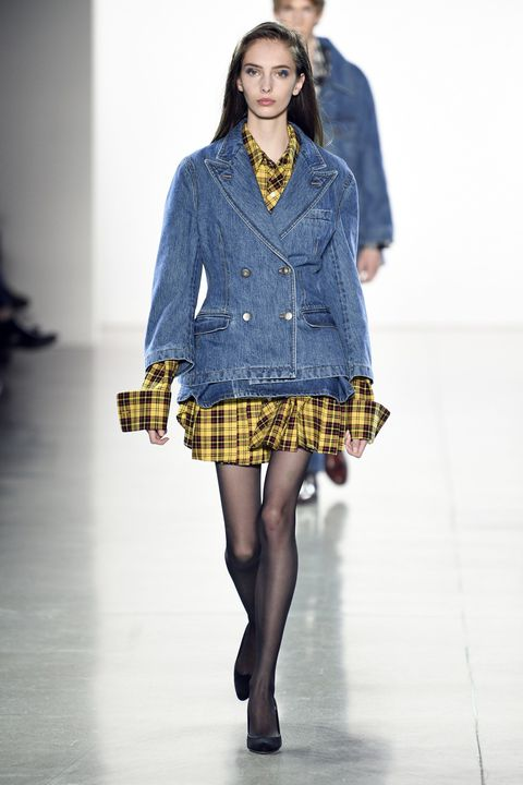 Clothing, Sleeve, Shoulder, Textile, Joint, Human leg, Pattern, Plaid, Style, Fashion model,