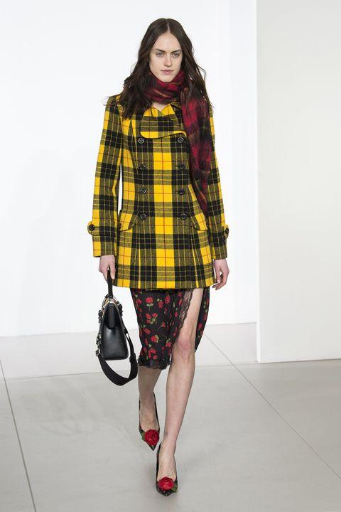 Clothing, Plaid, Tartan, Sleeve, Shoulder, Textile, Pattern, Bag, Human leg, Style,