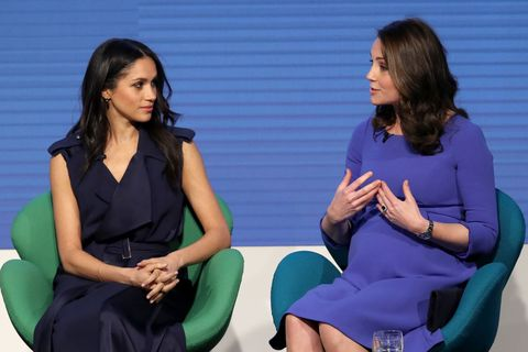 Kate Middleton and Meghan Markle Royal Foundation Blue Dresses