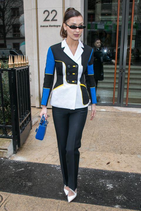 Bella Hadid Dior jacket in-between shows in Paris