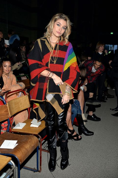 paris Jackson, burberry coat, lfw