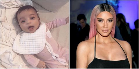 Kim Kardashian and baby Chicago | ELLE UK