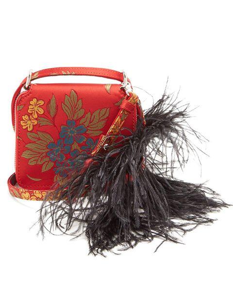 Marques Almeida, feather, cross-body bag