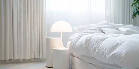 Bedroom, Bed, Furniture, Bed sheet, Room, Bed frame, Bedding, Interior design, Textile, Nightstand,