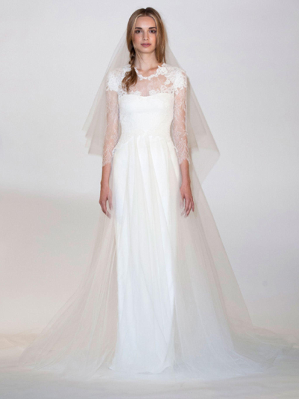 Trouwjurk Met Kanten Bovenlijf.Ja Ik Wil De 20 Mooiste Trouwjurken Van Bridal Fashion Week