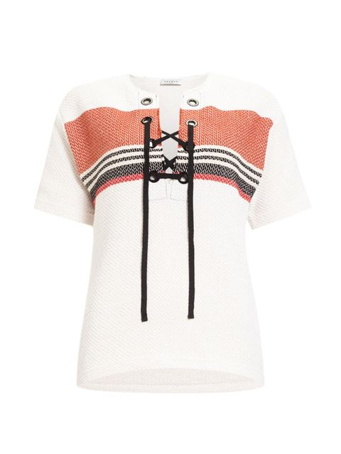 Product, Sleeve, Collar, Textile, White, Pattern, Jersey, Carmine, Fashion, Sweater,