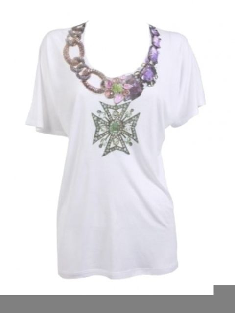Product, Sleeve, White, Lavender, Purple, Violet, Neck, Jewellery, Necklace, Active shirt,