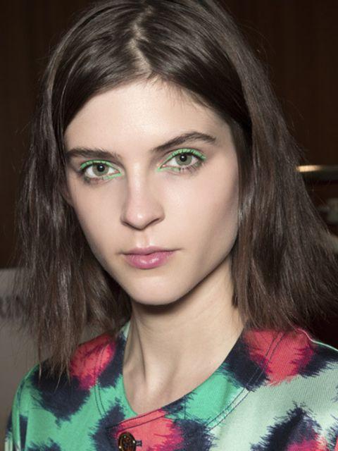 Green, Lip, Hairstyle, Chin, Forehead, Eyelash, Eyebrow, Iris, Beauty, Fashion,