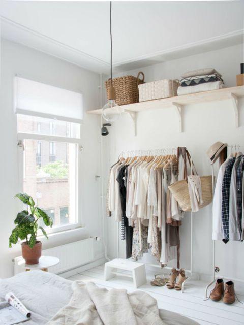 Genoeg Zo gebruik je een open kledingkast zonder dat je kamer rommelig wordt #DS37