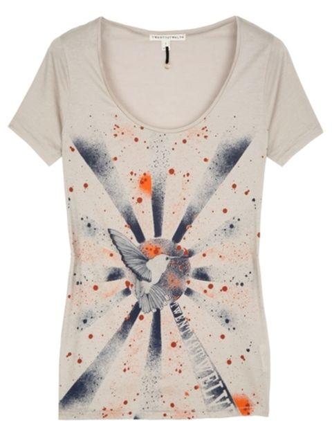 Product, Sleeve, White, Pattern, Orange, Fashion, Peach, Street fashion, Day dress, Design,