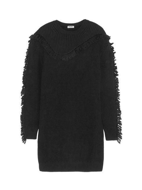 Product, Sleeve, Textile, Outerwear, Sweater, Fashion, Black, Wool, Woolen, Fur,