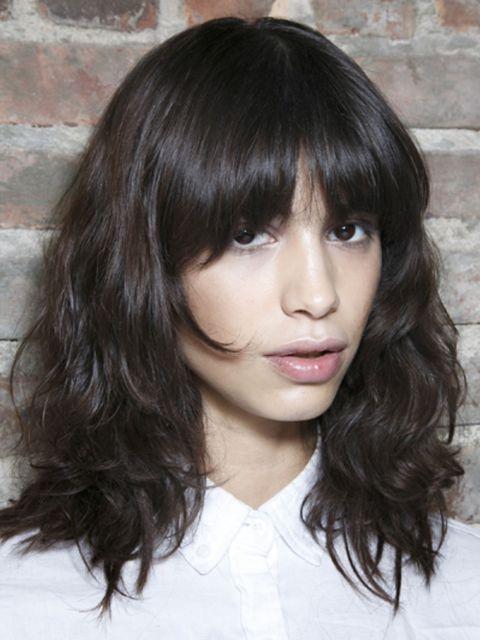 Lip, Hairstyle, Skin, Chin, Forehead, Eyebrow, Bangs, Style, Black hair, Step cutting,