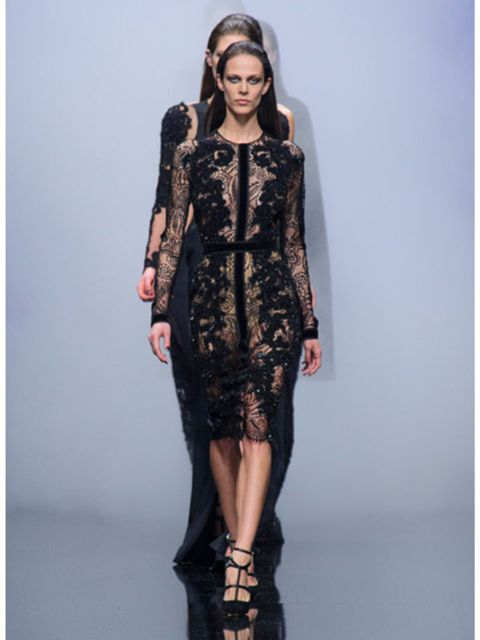 Clothing, Human, Human body, Shoulder, Fashion show, Joint, Dress, Fashion model, Style, Runway,