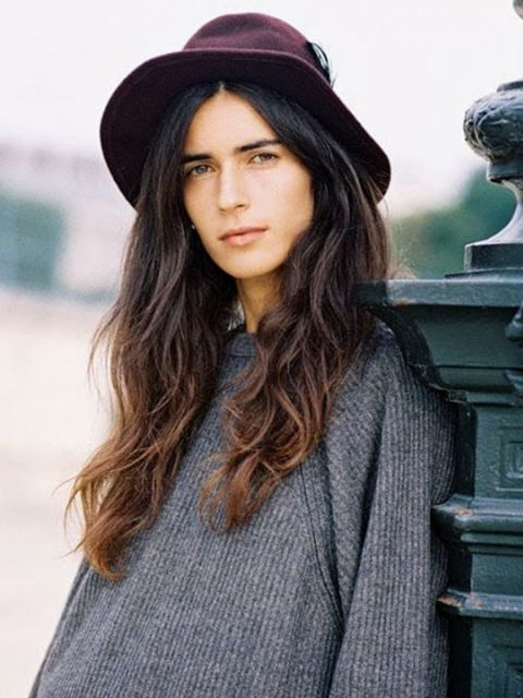 Clothing, Lip, Hat, Sleeve, Textile, Outerwear, Style, Street fashion, Collar, Headgear,