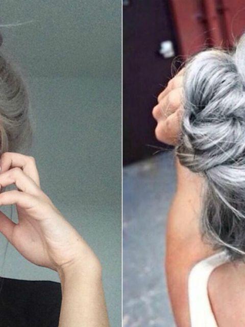 Bedwelming grannyhair: waarom steeds meer vrouwen hun haar grijs verven &FV44