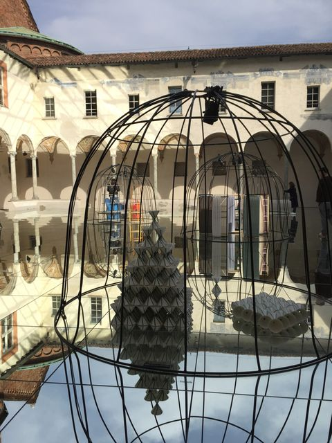 Architecture, Iron, Dome, Daylighting, Metal, Dome, Symmetry, Cage, Courtyard,