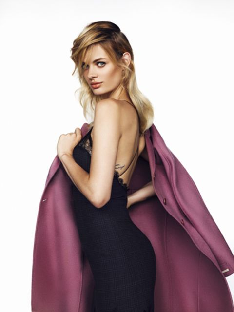 Sleeve, Shoulder, Dress, Purple, Style, Formal wear, One-piece garment, Magenta, Violet, Day dress,