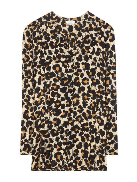 Brown, Sleeve, Pattern, Textile, Collar, Orange, Pattern, Button,