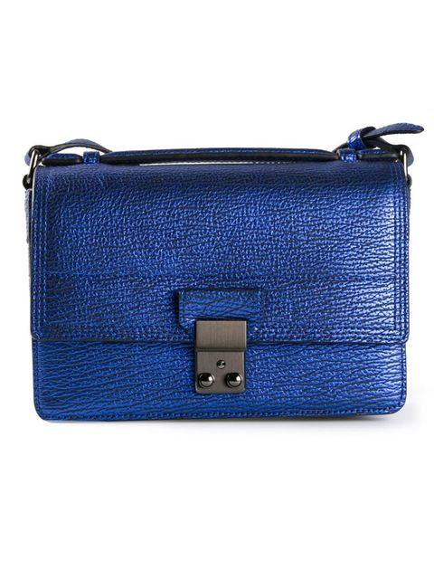 Blue, Product, Brown, Textile, Bag, Electric blue, Fashion, Rectangle, Azure, Leather,